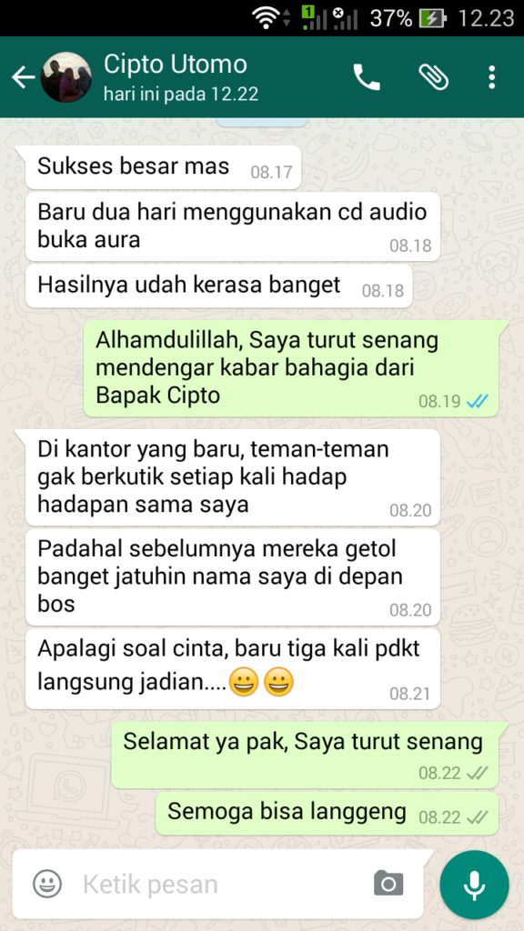 testimoni cd audio buka aura